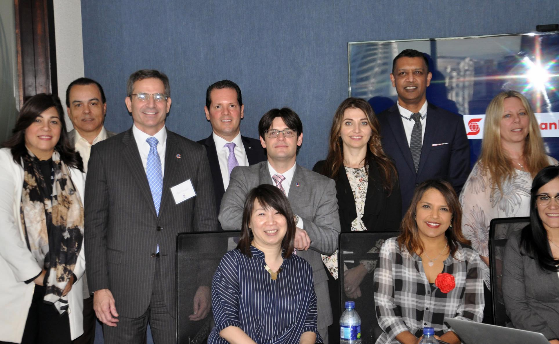 International Delegation of Scotiabank Toronto and Scotiabank Dominican Republic visit new offices of GCS - image  on https://gcs-international.com